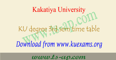 KU degree 3rd sem time table 2018-2019 2nd year Result