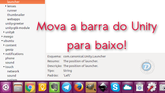 Como mover a barra do Unity no Ubuntu para baixo