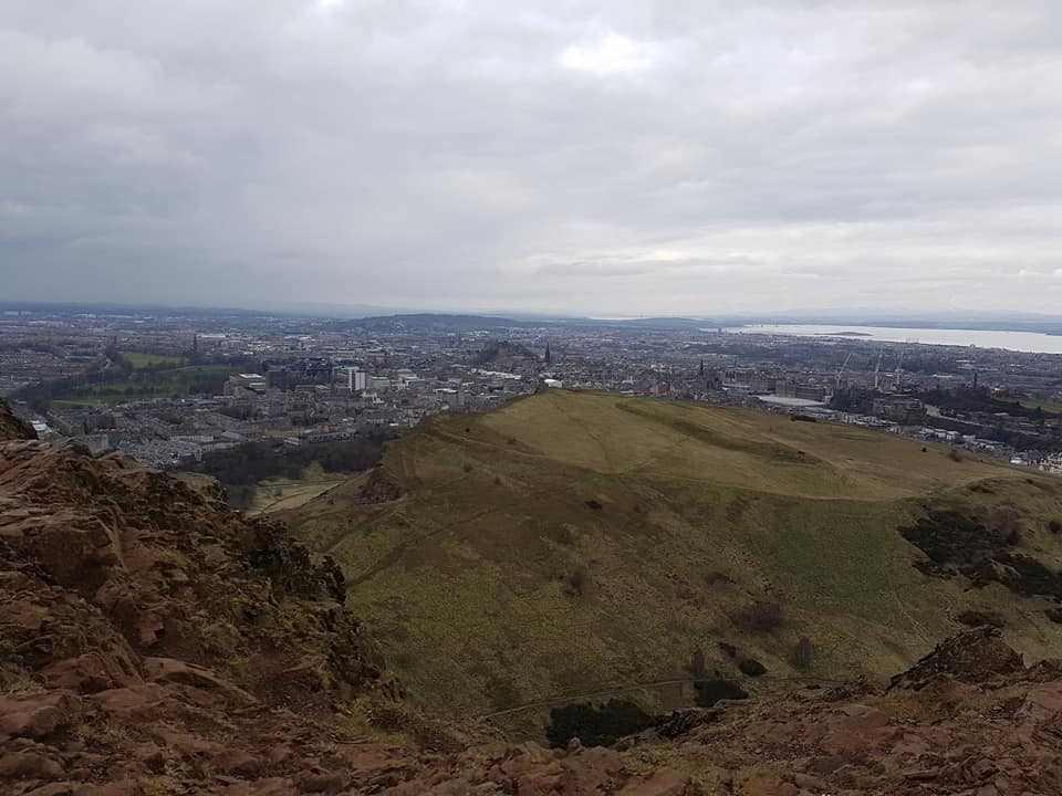 View from the top of Arthur's Seat, Edinburgh