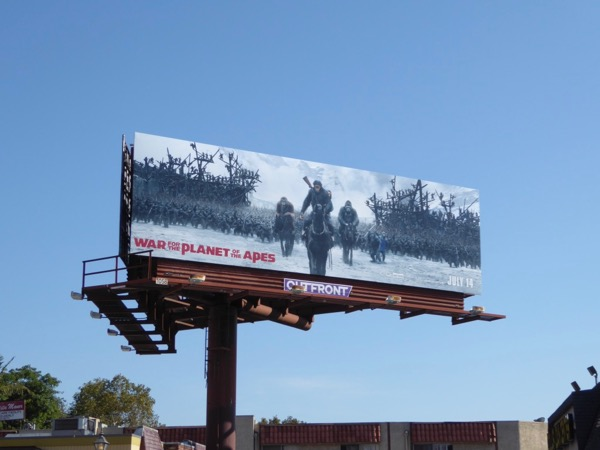 War for the Planet of the Apes billboard