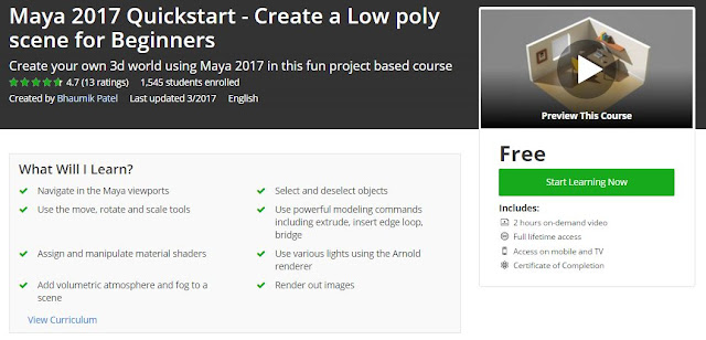 Maya-2017-Quickstart-Create-a-Low-poly-scene-for-Beginners