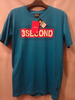 kaos 3second premium tag dan label lengkap