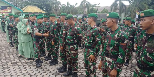 Emban Misi Kemanusiaan, 100 Personil TNI Zipur 2 SG Prabumulih Berangkat Ke Lombok