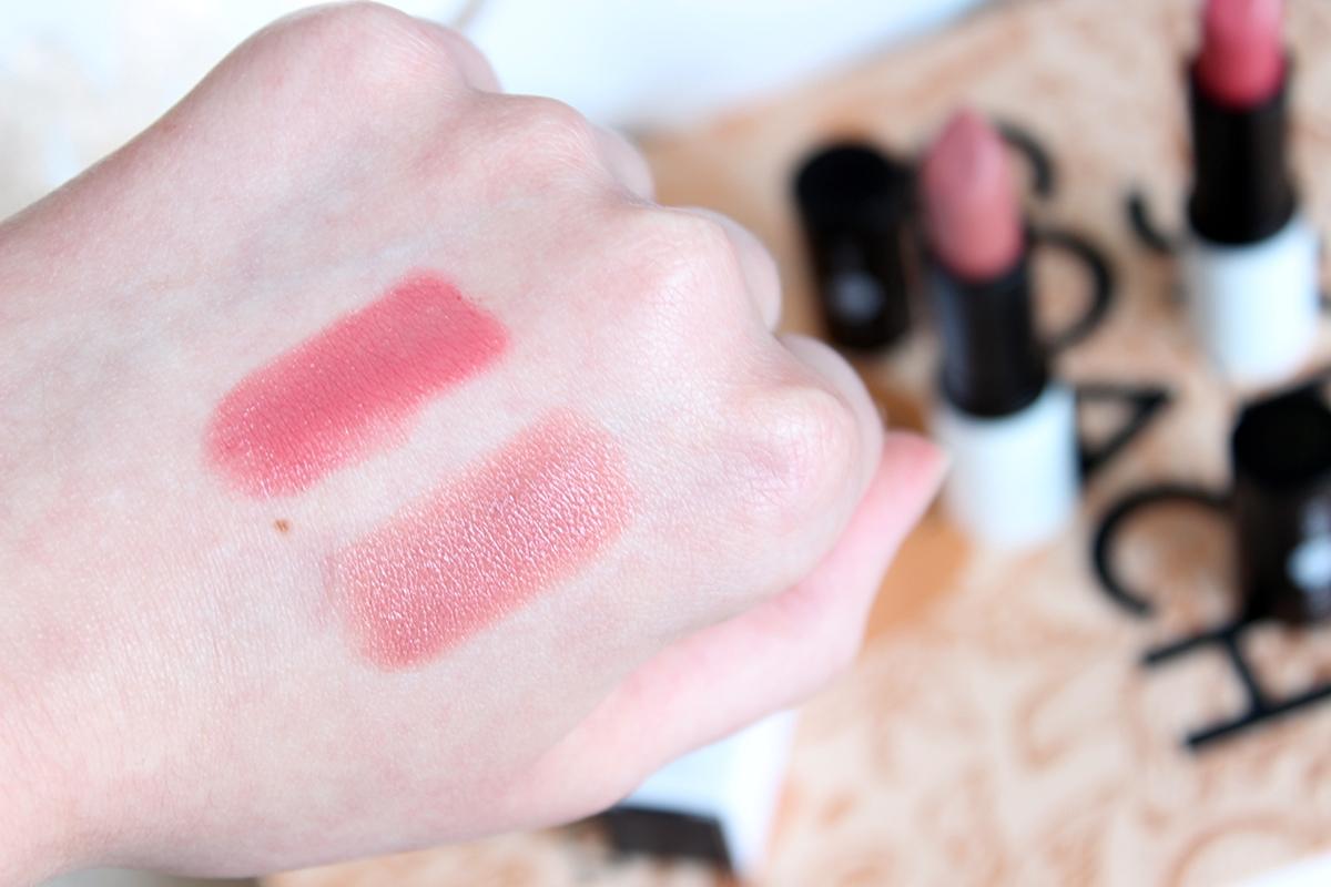 lily lolo szminka nude allure romantic rose swatch swatche