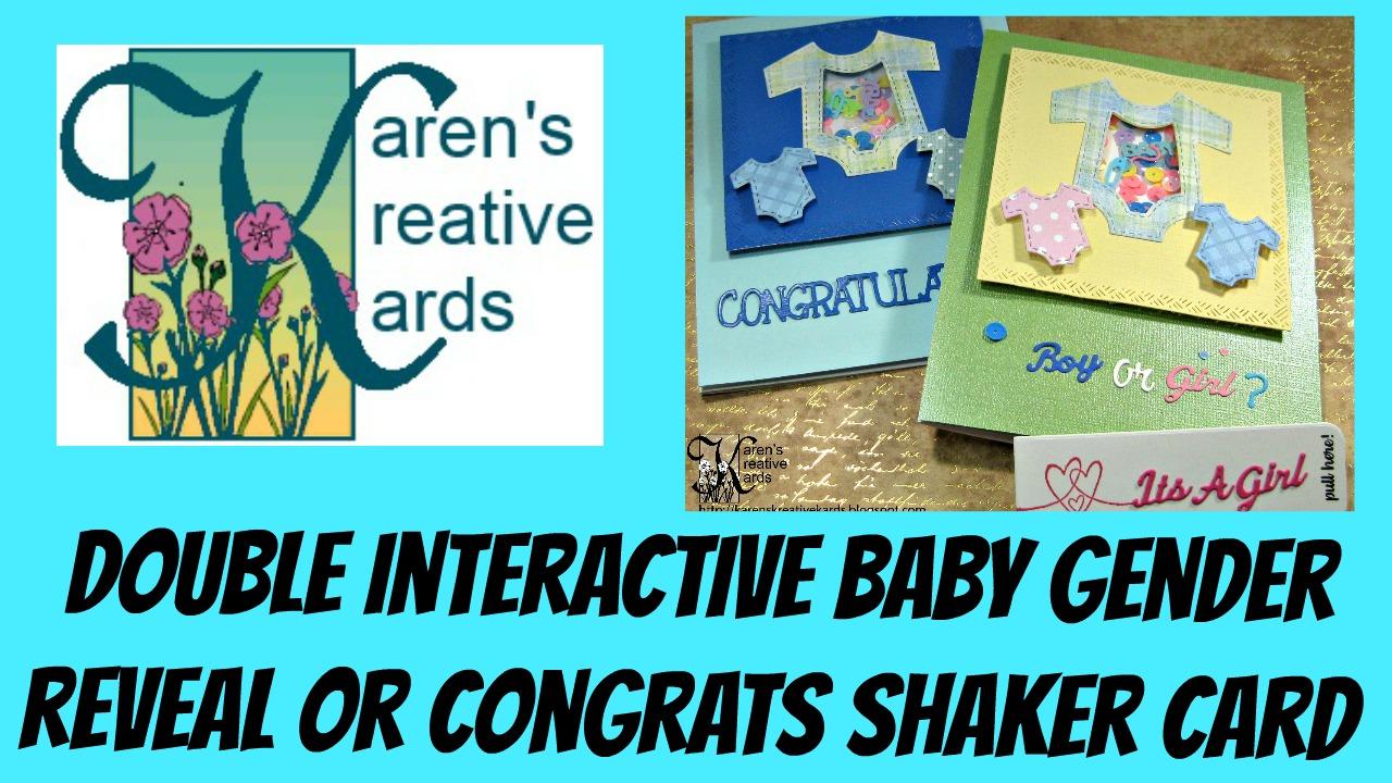 Karen\'s Kreative Kards: Video - Double Interactive Baby Gender ...