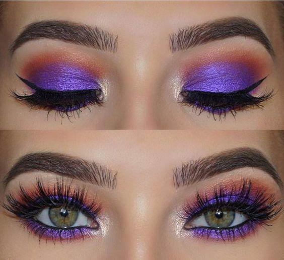 make-up summer look purple