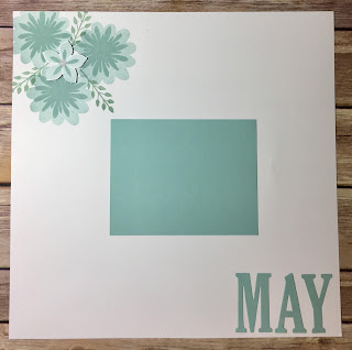 This 12x12 Scrapbook Page uses Stampn' Up!'s Flower Patch stamp set and Flower Fair Framelits.  We also used the Large Letters Framelits.  I love the Pool Party and Soft Sky!  #stampinup #stamptherapist www.stampwithjennifer.blogspot.com