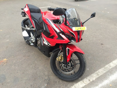 Bajaj Pulsar RS 200 Red Colour Image,