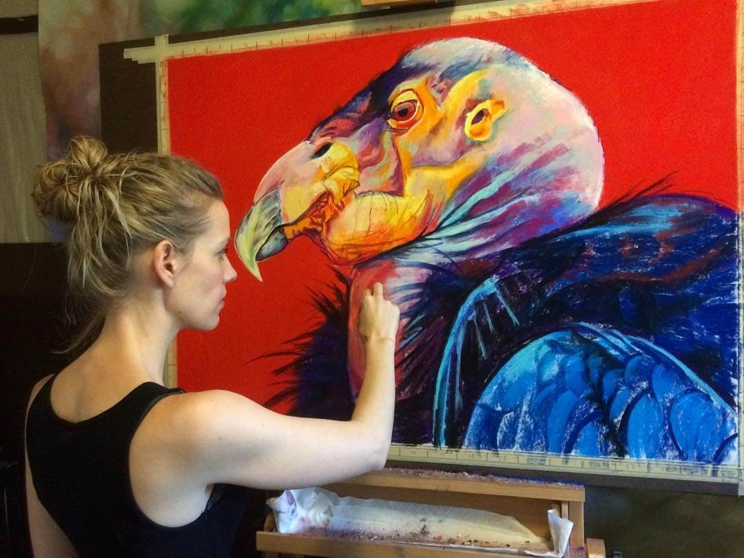 05-California-Condor-Large-Scale-Soft-Pastel-Drawings-Of-Wild-Ainimals-www-designstack-co
