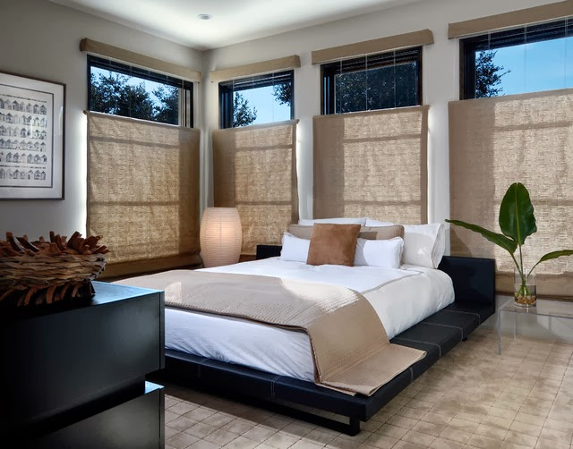 Dormitorios japoneses dormitorios colores y estilos - Cortinas estilo japones ...