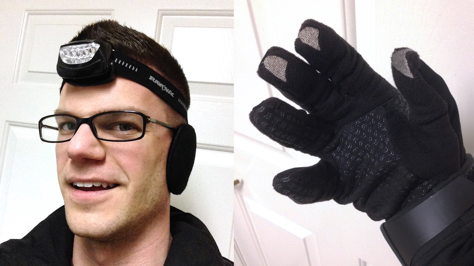 ear muffs and touch screen gloves