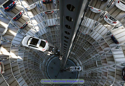 A Car Parking Tower in Volkswagon, Wolfsburg , Germany