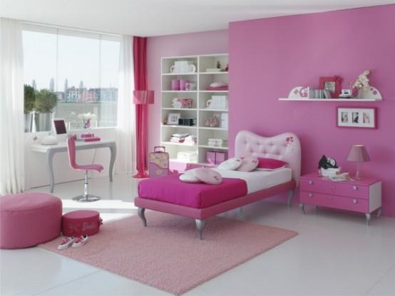 Bedroom Decoration Pink Color For Kids Girls