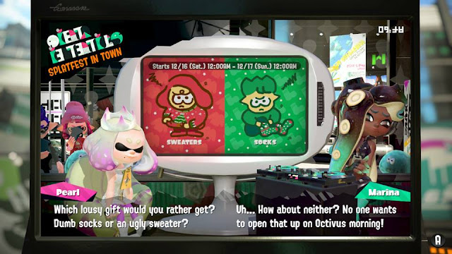 Splatoon 2 Splatfest Marina Octivus morning sweaters socks