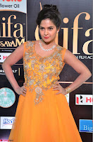 Keerthi in Orange Anarkali Dress at IIFA Utsavam Awards 2017  Day 2  07.JPG