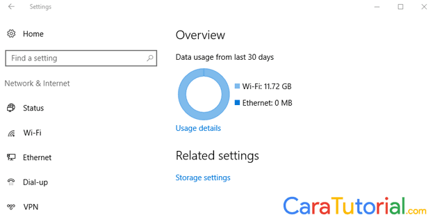 Data Usage Windows 10 Boros Kuota