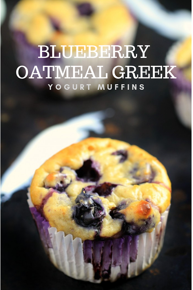 BLUEBERRY OATMEAL GREEK YOGURT MUFFINS BEST