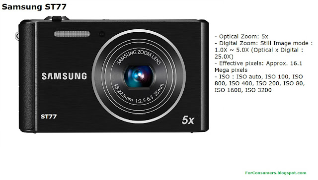 Samsung ST77 digital camera