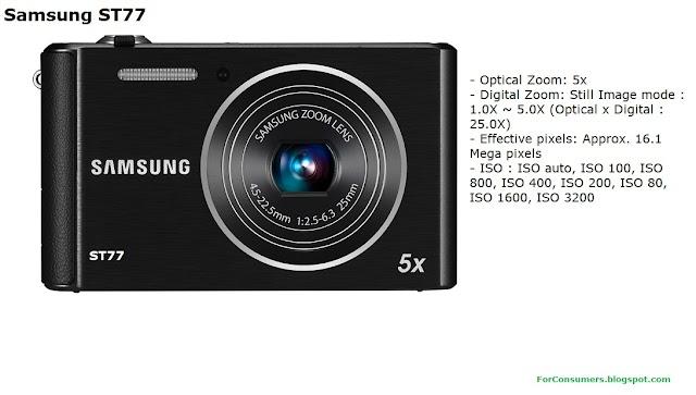 Samsung ST77 digital camera specifications