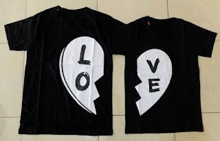 Jual Online Black Love Murah Jakarta Bahan Combed Terbaru