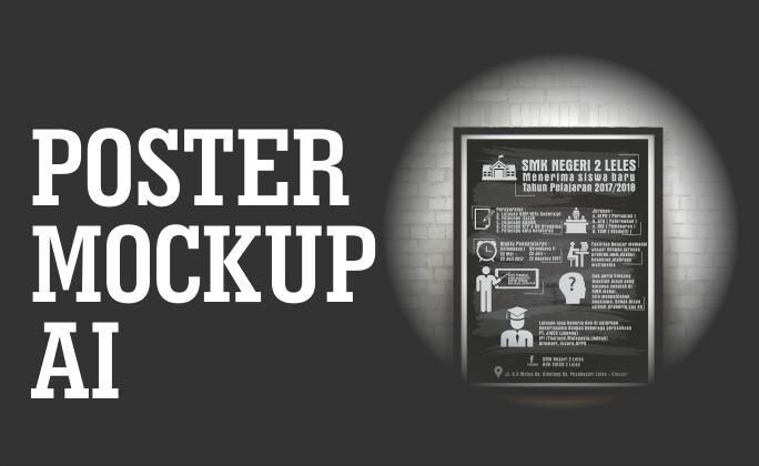 Poster Mockup Format CDR