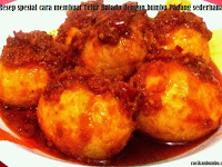 Resep spesial cara membuat Telur Balado dengan bumbu Padang sederhana