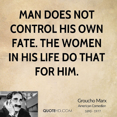 women life quotes by man with picture: man does not control his own fate.