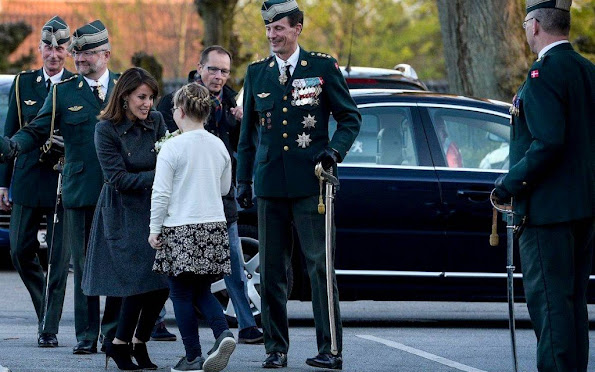 Prince Joachim and Princess Marie attended the Festival of Lights in Haderslev barracks. style royals, jewels, diamond earrings, newmyroyals