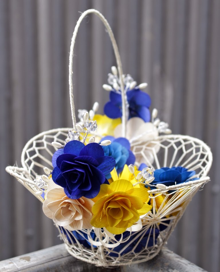 Yellow Wedding Flowers: Royal Blue And Yellow Wedding: Bouquets, Pomanders