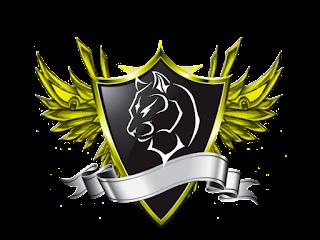 Logo Polos Perisai Bersayap Kuning Emas gamar Singa