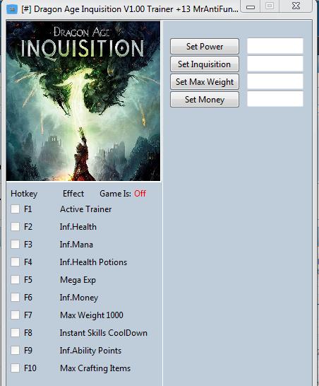 Dragon Age Inquisition Cheats