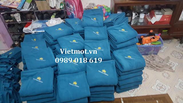 Xưởng sản xuất chăn nỉ Việt Mốt sản xuất chăn cho Vietnam Airlines