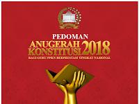 Anugerah Konstitusi Bagi Guru Pendidikan Pancasila dan Kewarganegaraan Berprestasi Tingkat Nasional Tahun 2018
