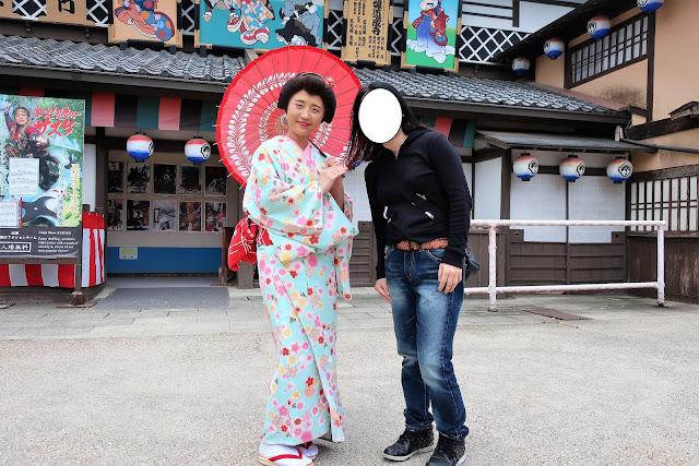 京都東映太秦映画村 手引 着物 藤原美弥