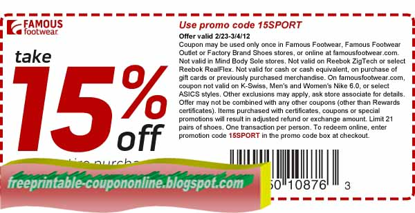 Famous footwear coupons in store printable 2018