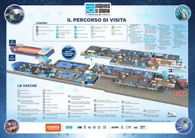 Mappa Acquario di Genova 2016