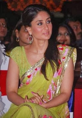 Kareena Kapoor Green designer saree
