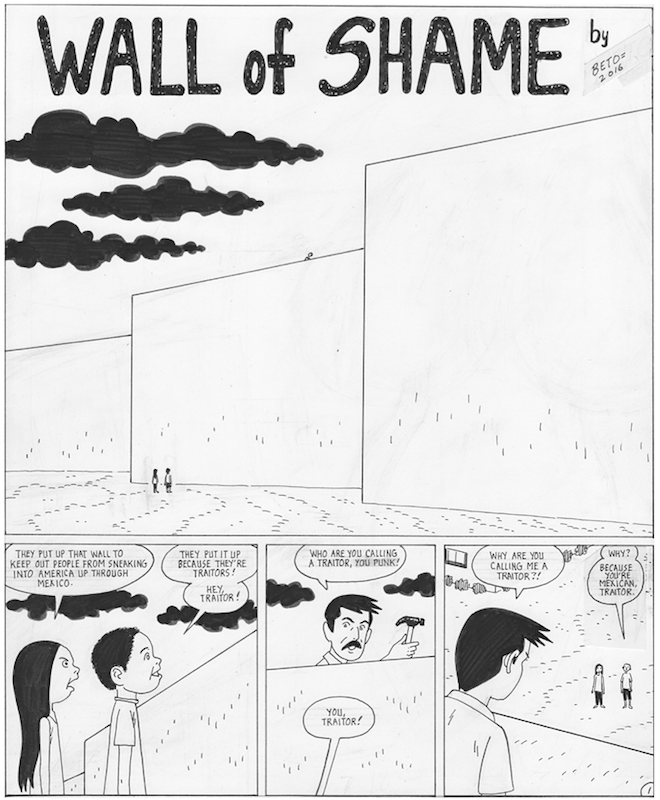 Wall of Shame, by Gilbert Hernandez.
