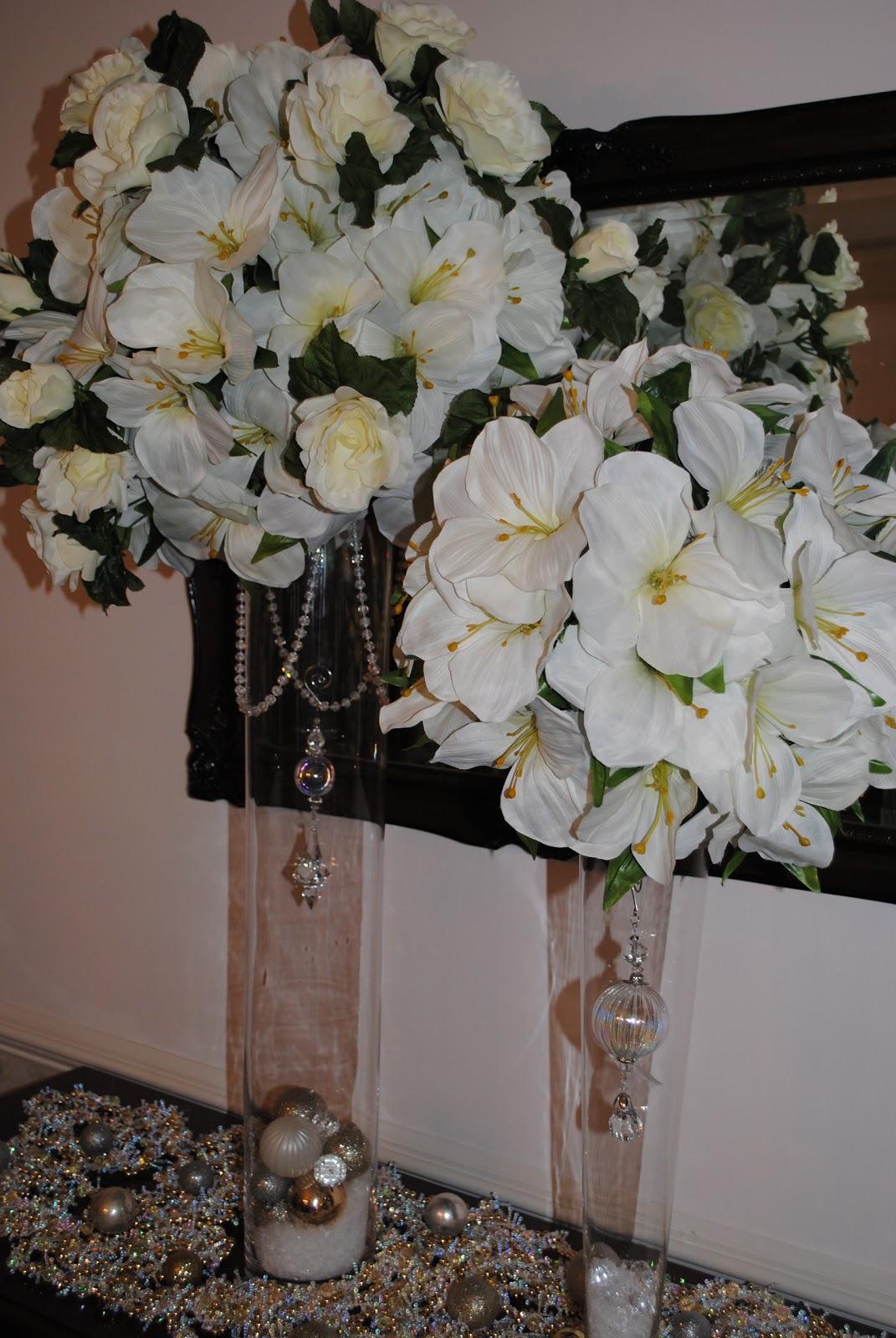Clear Vase Arrangements