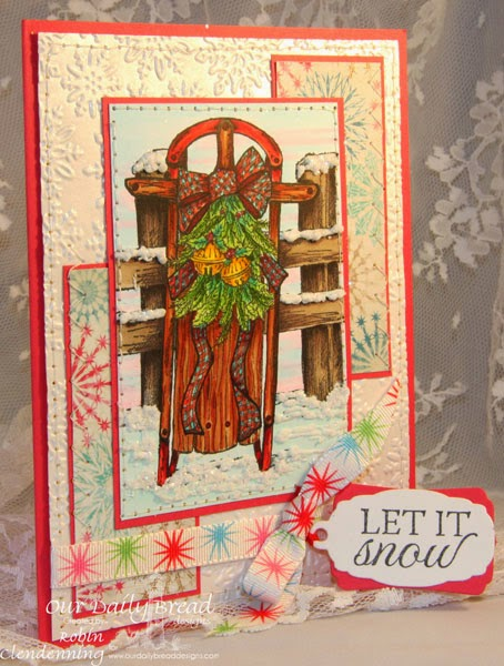Our Daily Bread Designs, Let it Snow, Mini Tags die set, Christmas Collection 2014, Designed by Robin Clendenning