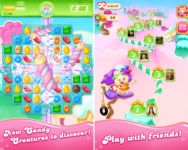 download Candy Crush Jelly Saga v1.15.4 Mod full Apk