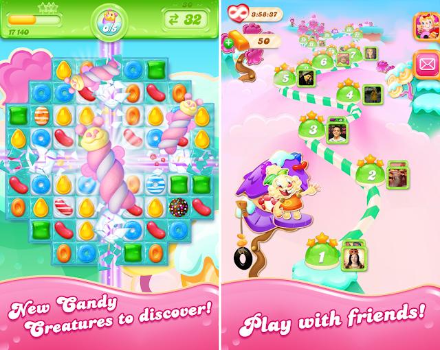 download Candy Crush Jelly Saga v1.15.4 Mod full Apk
