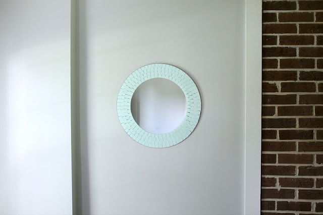 Chalk painted mosaic mirror! Monthly DIY Challenge