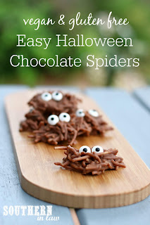 Gluten Free Halloween Chocolate Spiders Recipe