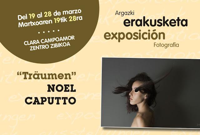 Cartel de la exposición de Noel Caputto