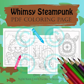 whimsy doodle steampunk sea life
