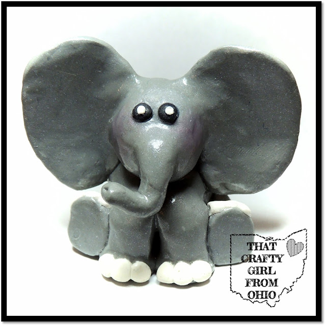 Polymer Clay Craft Elephant Figurine