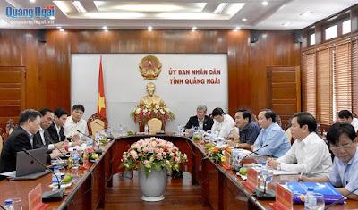 Nhà đầu tư Thái Lan muốn đầu tư Nhà máy điện mặt trời tại Quảng Ngãi