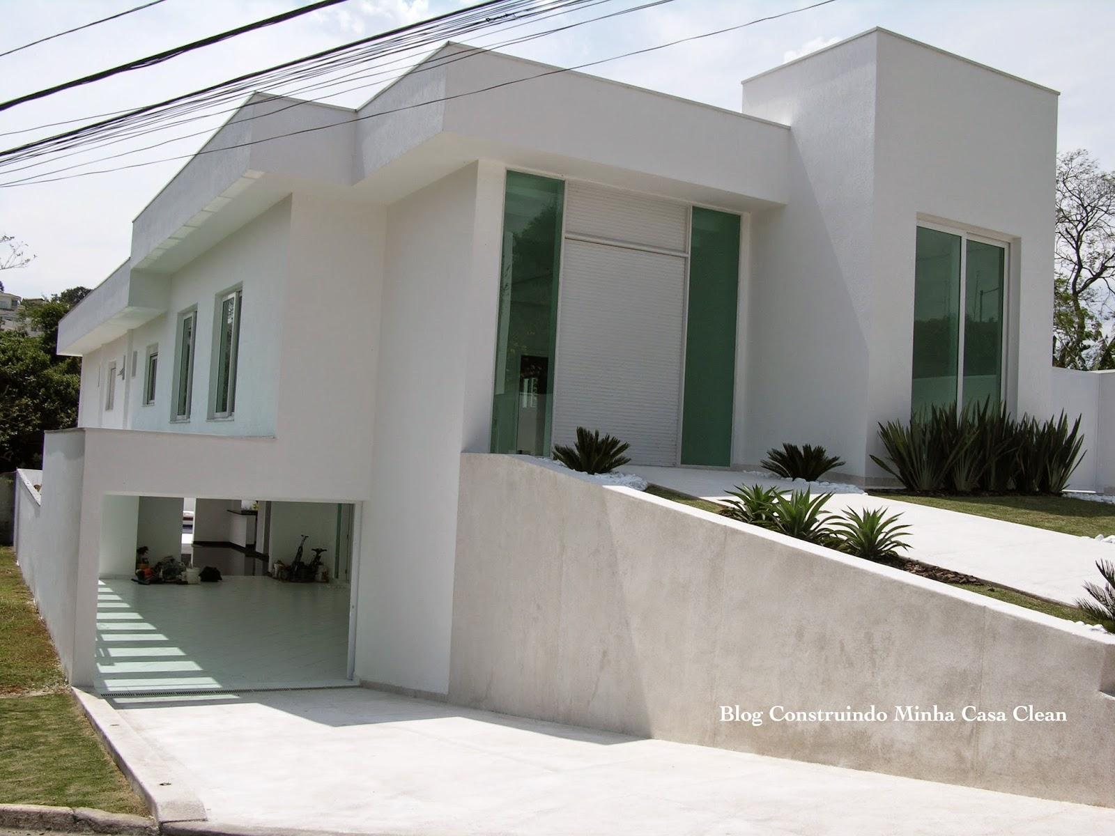Construindo minha casa clean fachadas de casas em for Modelos de fachadas para frentes de casas