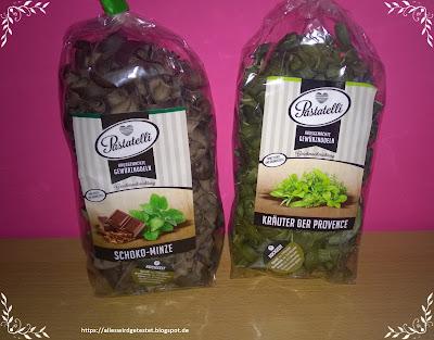 Schoko-Minz Nudeln und Kräuter der Provence Nudeln